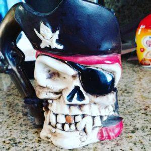 Kitty's tacky pirate mug